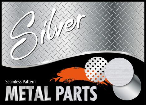 Silver metal parts