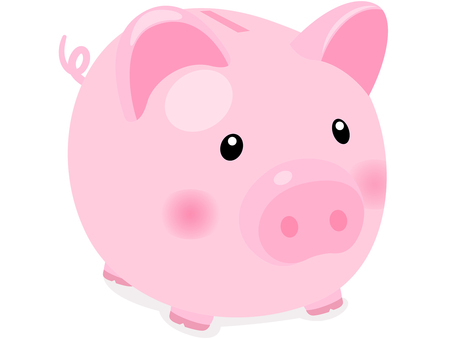 Pig piggy bank icon