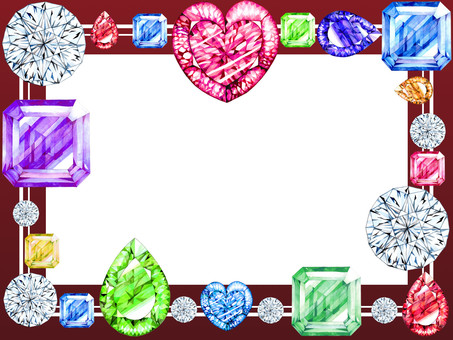 Bubbly jewelry frame (red)