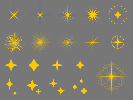 Twinkle set (png background transparent)