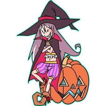 Witch and Jack O'Lantern