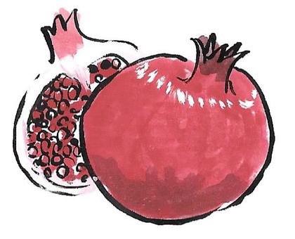 Pomegranate (brush pen)