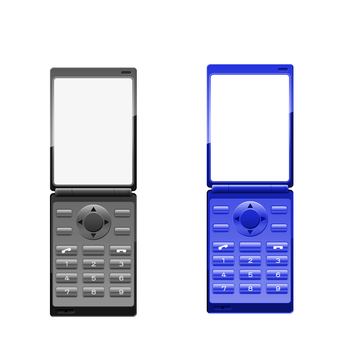 Mobile phone (two fold) Blue series