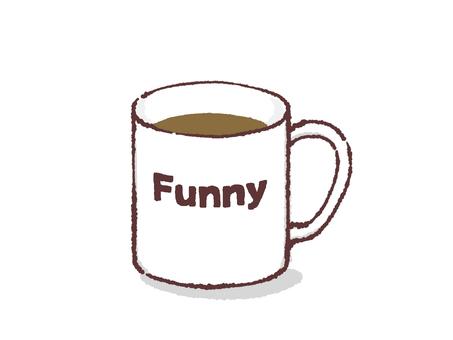 찻잔 - 웃긴 커피