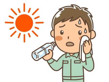Heat stroke prevention work clothes Male 1