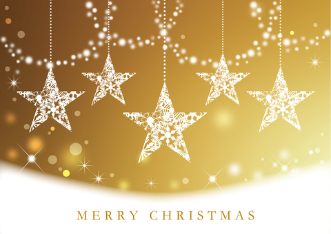 Christmas gold background 1500