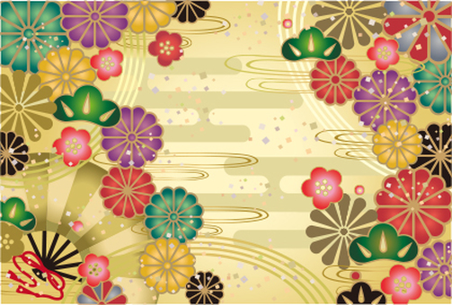 Japanese Pattern greeting card