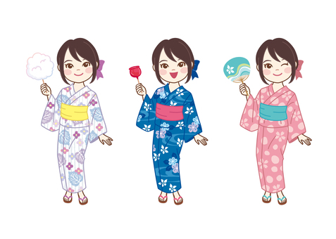 Yukata Girls_1