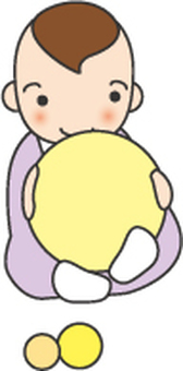 공 가지고 노는 아기