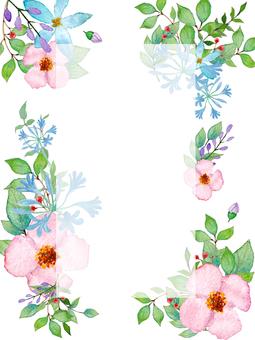 Fresh flower frame