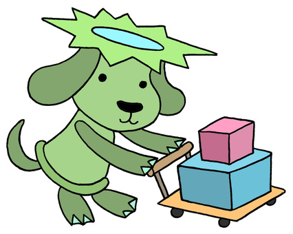 Dog character · transportation