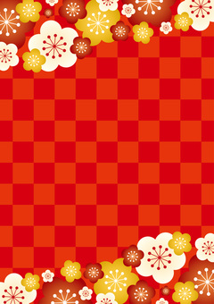 Ume checkered red lick vertical position