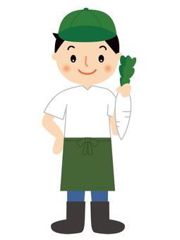 Greengrocer, male, full body