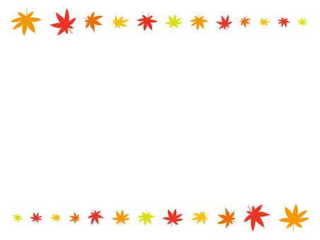 Maple / autumn leaves frame