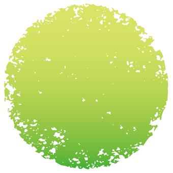 Stamp circle _ yellow green gradation _ cs