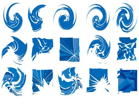 Swirl and crash pattern