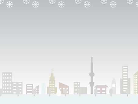 Winter cityscape (night)