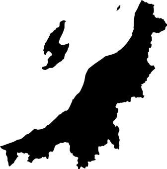 Niigata Prefecture _ Silhouette _ Black