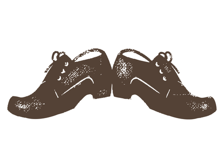 Leather shoes stamp