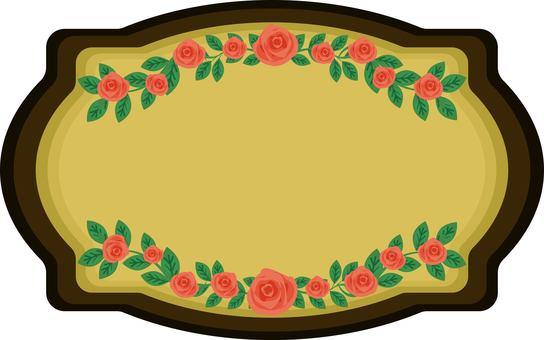古董風格玫瑰的跡象