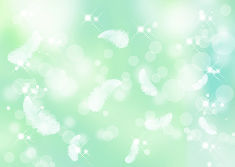 Feather green background