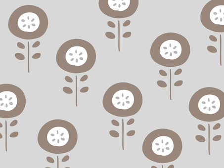 Nordic floral simple wallpaper pattern 05