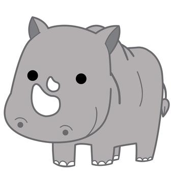 Animal illustration-rhino