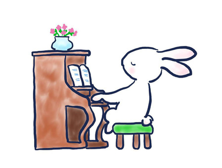 Piano rabbit 26
