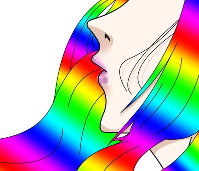 "Beautiful woman's mouth ""rainbow"""
