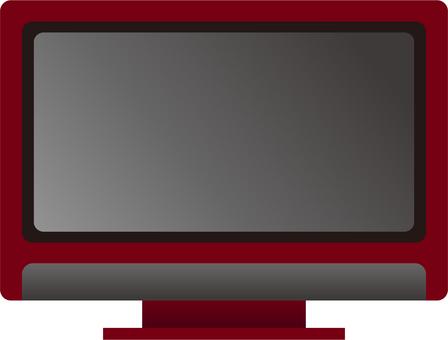 電視(紅色)