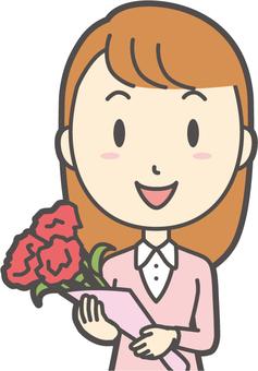 粉紅女孩長發-154-胸圍