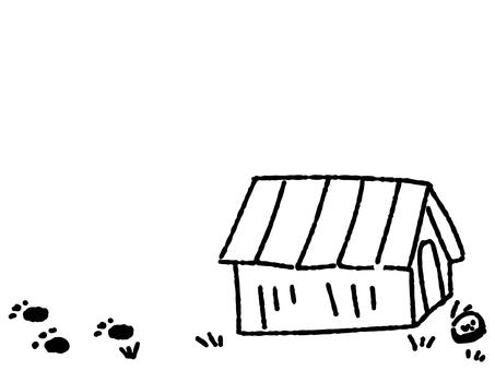 Hand drawn kennel monochrome