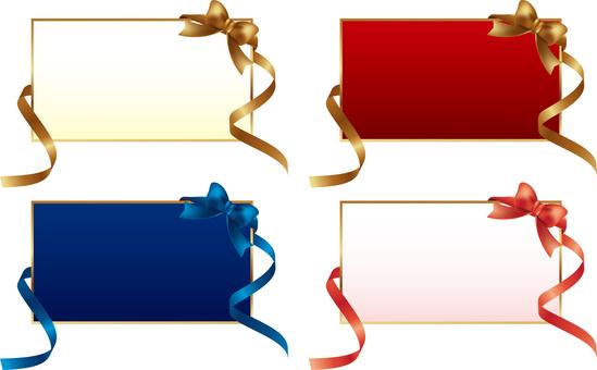 Ribbon decoration card