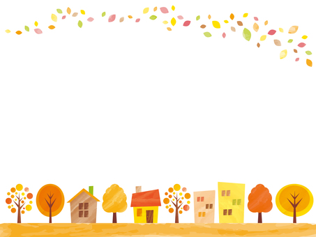 Background of autumn town background Part 1