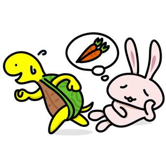 Long ago: rabbit and turtle