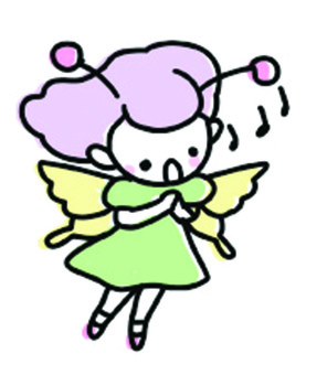 A fairy singing a song