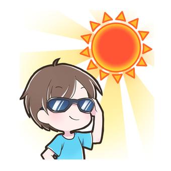 선글라스를 쓴 소년