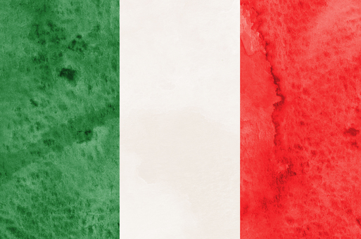 Flag watercolor Italy