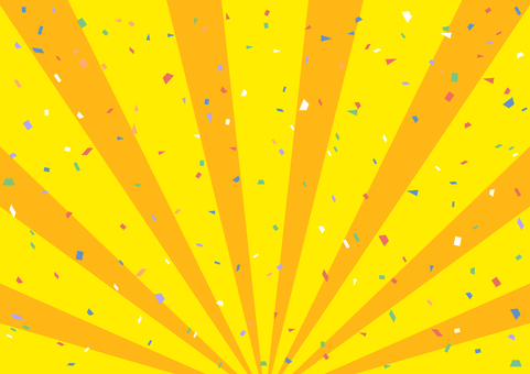 Confetti Concentration Line Background