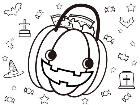 Coloring book ⑦ (Halloween)
