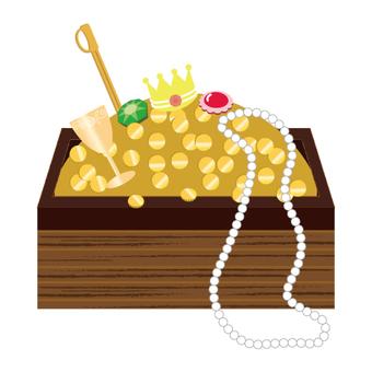 Treasure box with jewels