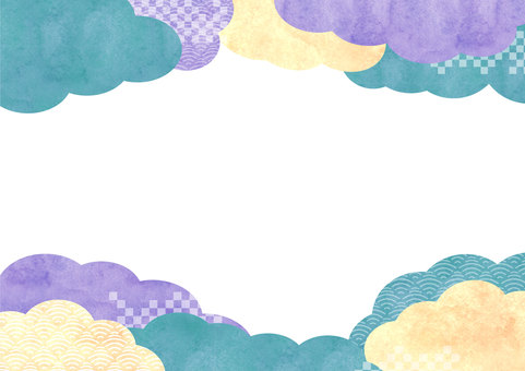 Japanese pattern material 032 cloud background