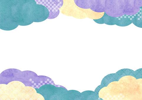 Chất liệu hoa văn Nhật Bản 032 nền mây