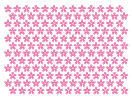 Turf pattern of cherry blossoms