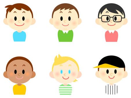 Various children · boys