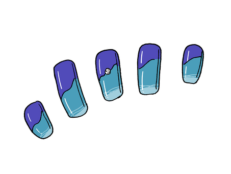 Nail chip (blue)
