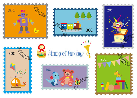 Stamp style series 5 toys