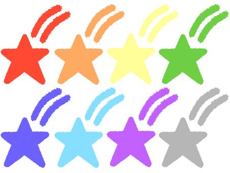 Colorful shooting stars