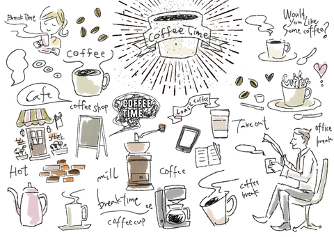 Illustration that may be used for coffee system