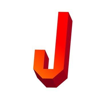 Three-dimensional text J